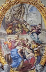 Storie della Vita della Vergine: Nascita della Vergine