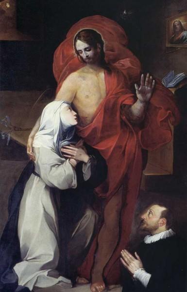 S. Caterina da Siena bacia il costato di Cristo